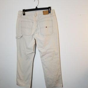 Tommy Hilfiger Womens Beige Carpenter Pants Size 8